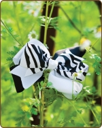 Boutique Twisted Large Bow Black/White Zebra