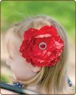 Peony Flower Clippie Red