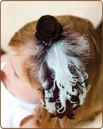 Brown/Baby Blue Feather Headband