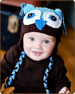Blue/Brown Owl Hat