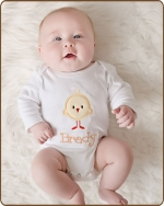 Yellow Baby Chic White Bodysuit