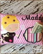 Pink Chevron Tooth Fairy Pillow