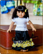 Doll Ruffled Pants - Yellow/Black