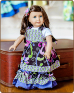 Doll Tie Back Dress - Purple