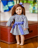 Doll Peasant Sleeve Dress - Purple
