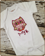 Plaid Owl White Bodysuit