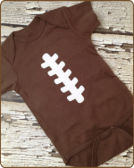 Football Brown  Bodysuit