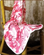Pink Camo Knit Blanket