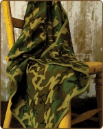 Green Camo Knit Blanket