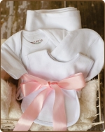 White Knit Layette Gift set