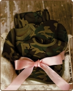 Green Camo Knit Layette Gift set