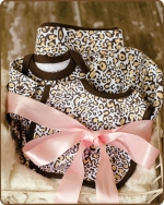 Leopard Knit Layette Gift set