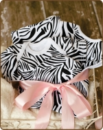 Zebra Knit Layette Gift set