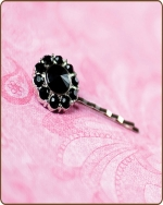 Lauren Bobby Pin in Black