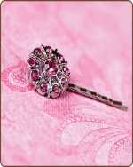 Emma Bobby Pin in Hot Pink