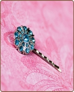 Emma Bobby Pin in Turquoise