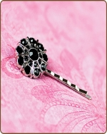 Emma Bobby Pin in Black