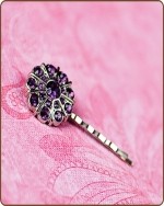 Emma Bobby Pin in Purple