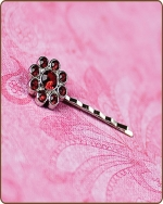 Ashlynn Bobby Pin in Red