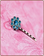 Ashlynn Bobby Pin in Turquoise