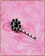 Ashlynn Bobby Pin in Black