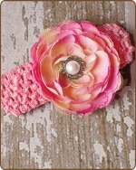 Light Pink Crochet Headbands 2.5 inch