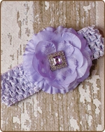 Lavender Crochet Headbands 2.5 inch