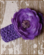 Purple Crochet Headbands 2.5 inch