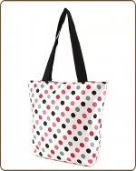 Polka Dots Print Tote Bag White/Multi