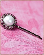 Amelia Bobby Pin in Hot Pink