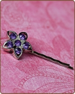 Kendall Bobby Pin in Purple