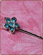 Kendall Bobby Pin in Turquoise