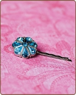 Rylie Bobby Pin in Turquoise