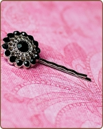 Chloe Bobby Pin in Black