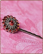 Chloe Bobby Pin in Red