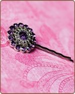 Chloe Bobby Pin in Dark Purple