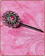 Chloe Bobby Pin in Hot Pink