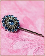 Chloe Bobby Pin in Navy