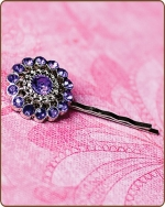 Chloe Bobby Pin in Purple