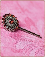 Chloe Bobby Pin in Ruby Red