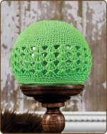 Crochet Beanie Lime Green