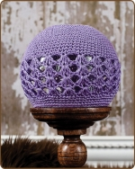 Crochet Beanie Purple