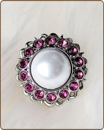 Amelia Filigree Ring in Hot Pink