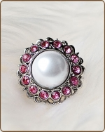 Amelia Filigree Ring in Pink
