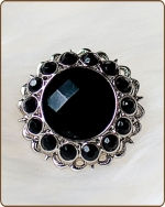 Kayli Filigree Ring in Black