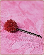 Madeline Bobby Pin in Red