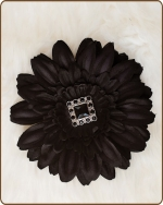 Daisy Flower Clippie Black