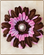 Daisy Flower Clippie Pink/Brown