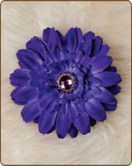 Daisy Flower Clippie Shades of Purple