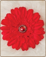 Daisy Flower Clippie Red